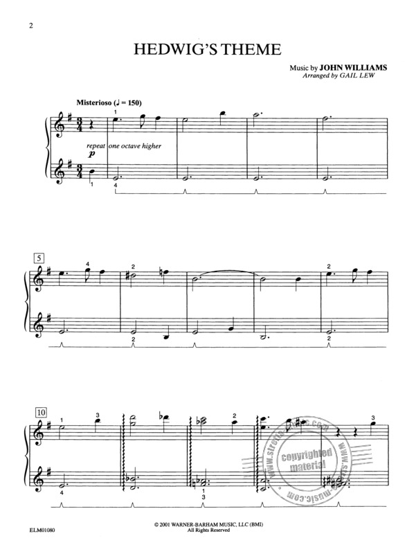 Themes From Harry Potter And The Sorcerer S Stone From John Williams Buy Now In Stretta Sheet Music Shop