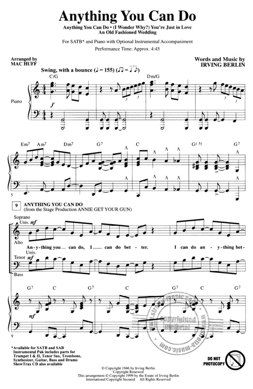 Irving Berlin: Anything you can do (Medley) (1)