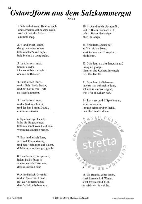 Gstanzl Texte