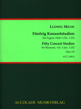 Ludwig Milde: Fifty Concert Studies 1