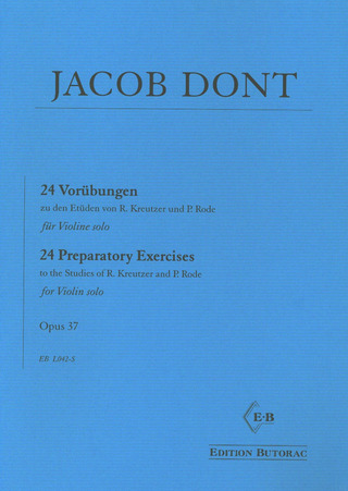 Jakob Dont: 24 Preparatory Exercises op. 37