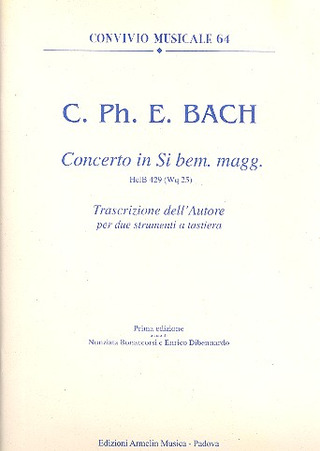 Carl Philipp Emanuel Bach: Concerto in Si bem. magg. HelB 429
