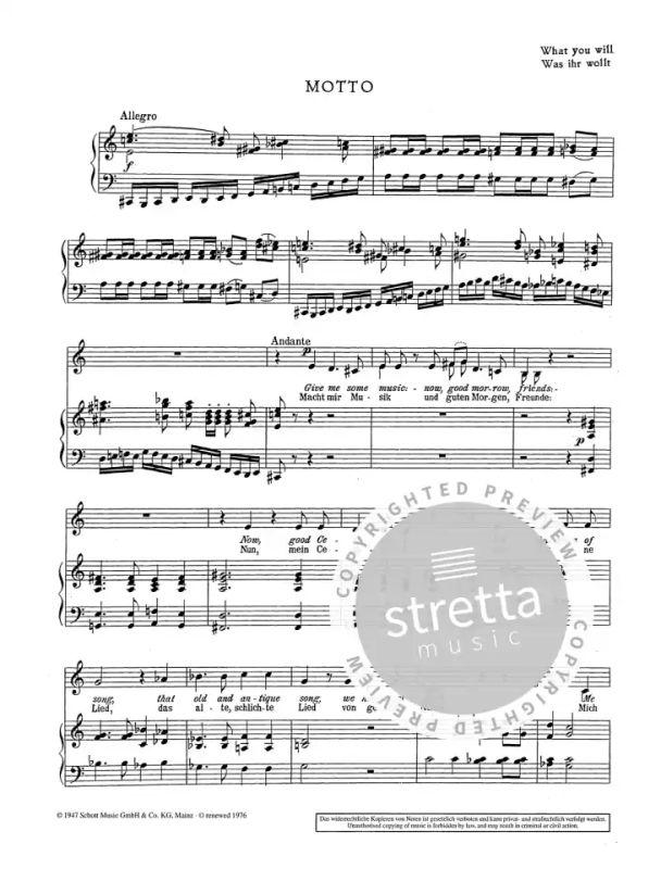 Shakespeare Songs From Wolfgang Fortner Buy Now In Stretta