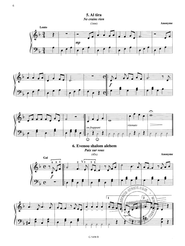 Anonymus: Melodies Hebraiques 1 (2)
