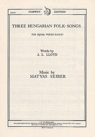 Mátyás Seiber: Three Hungarian Folk-Songs