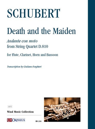 Franz Schubert: Death and the Maiden. Andante con moto from String Quartet D.810 for Flute, Clarinet, Horn and Bassoon