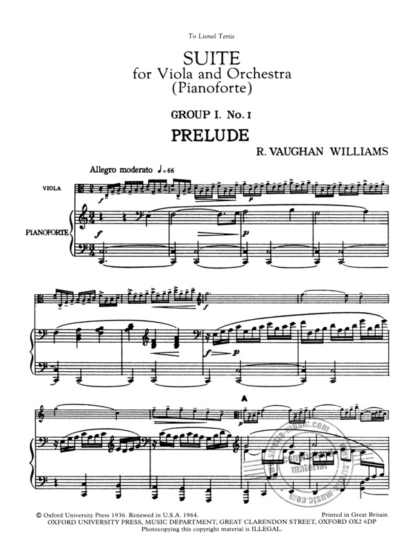 Ralph Vaughan Williams: Suite for Viola and Orchestra (1)