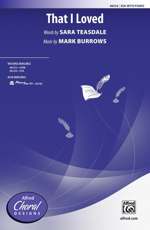 Mark Burrows: That I Loved