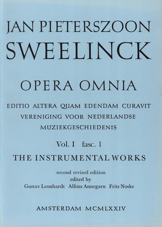 Jan Pieterszoon Sweelinck: Opera Omnia 1 - Instrumental Works