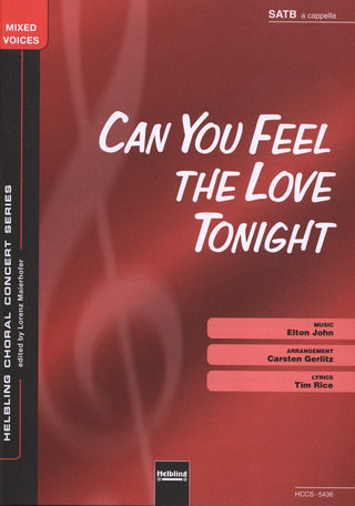 Elton John: Can You Feel The Love Tonight SATB a cappella