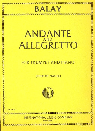 Guillaume Balay: Andante and Allegretto