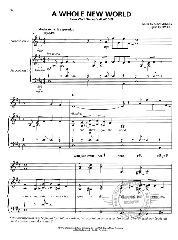 Disney Songs for Accordion (3)