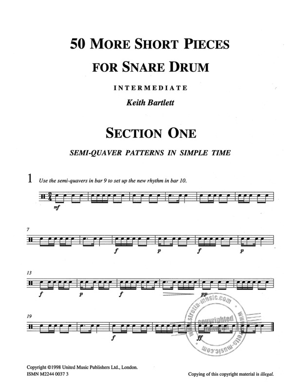 Keith Bartlett: 50 More Short Pieces For Snare Drum (1)
