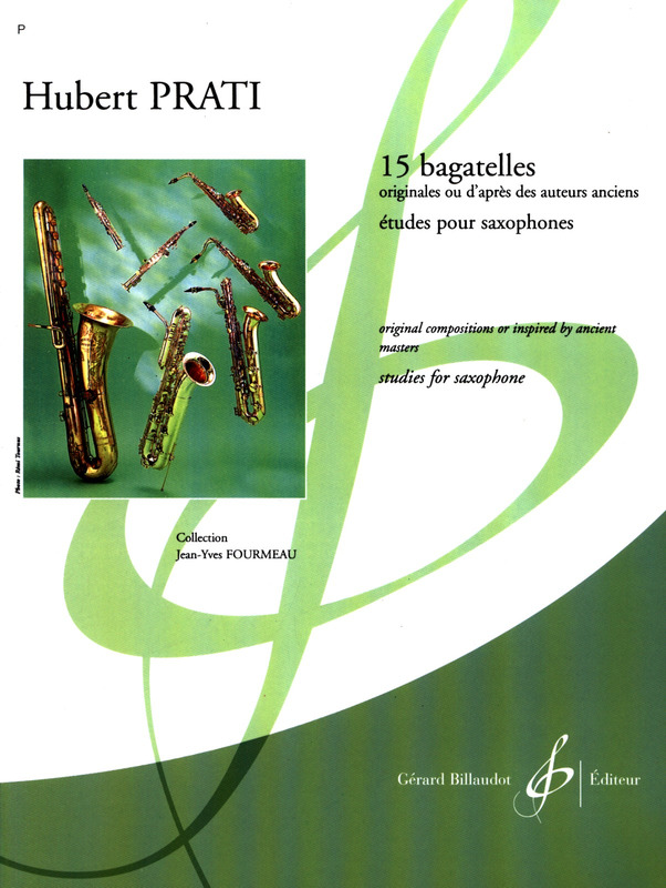 pour Saxophone 15 Bagatelles