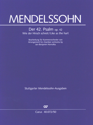Felix Mendelssohn Bartholdy: Like as the hart
