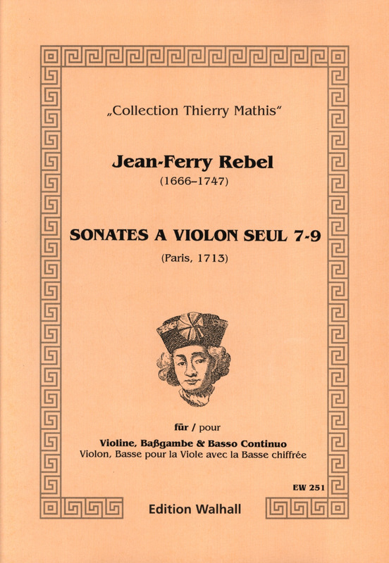 Rebel Jean Ferry: Sonates A Violon Seul 3