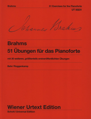 Johannes Brahms: 51 Exercises for the Pianoforte