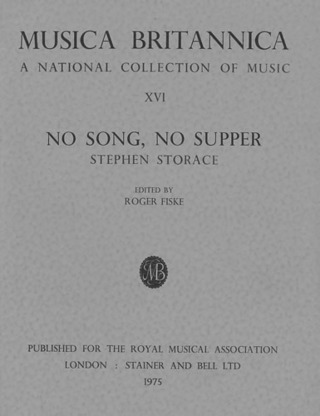 Stephen Storace: No Song, No Supper