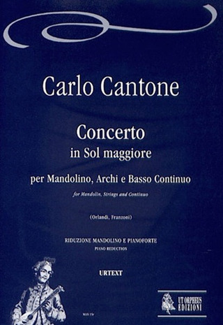 Cantone Carlo: Concerto in G maj for Mandolin, Strings and Continuo