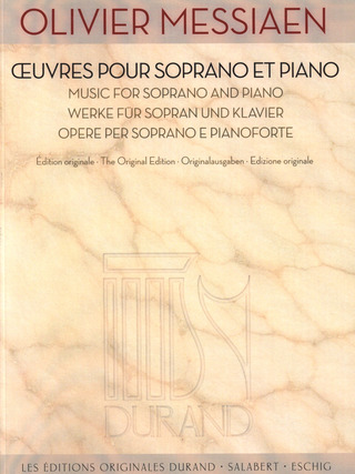 Olivier Messiaen: Oeuvres pour Soprano et Piano