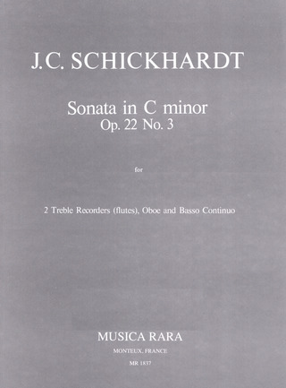 Johann Christian Schickhardt: Sonata in c-Minor