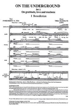 Thea Musgrave: Musgrave On The Underground Set 1 Satb