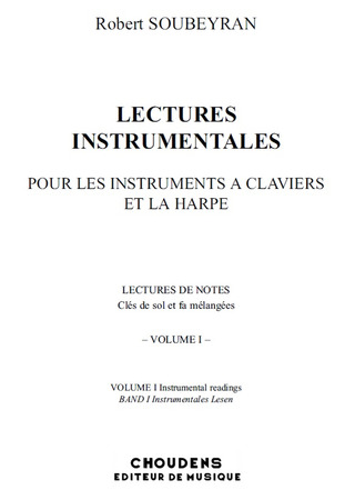 Robert Soubeyran: Lectures Instrumentales 1