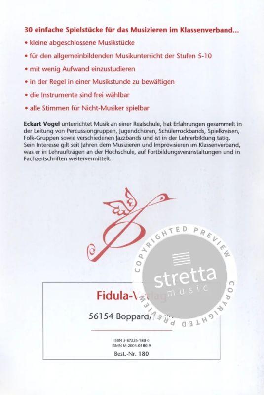 Stundenstuecke Musizieren In Der Klasse From Vogel Eckart Buy Now In Stretta Sheet Music Shop