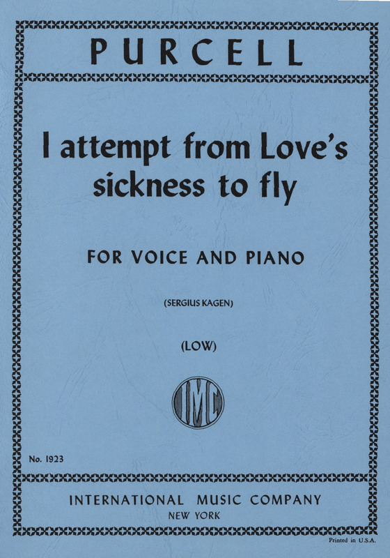 Henry Purcell: I Attempt From Loves Sickness To Fly