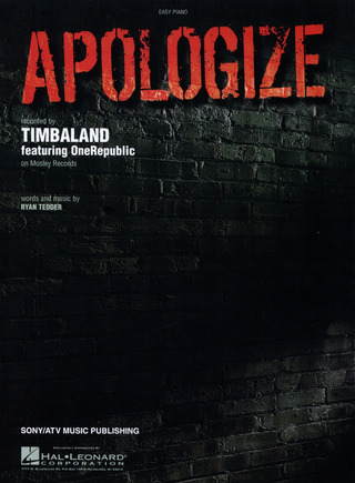 Timbaland Feat One Republic: Apologize