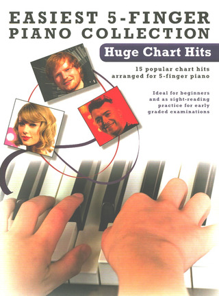 Easiest 5-Finger Piano Collection: Hugh Chart Hits