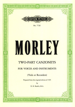 Thomas Morley: 21 Two-part Canzonets
