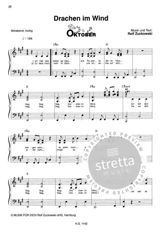 Rolfs Liederkalender von Rolf Zuckowski | im Stretta Noten