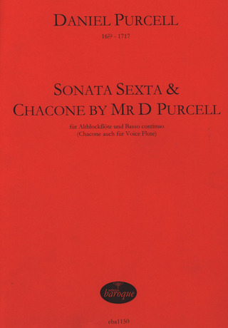 Purcell Daniel: Sonata Sexta A-Moll + Chaconne By Mr D Purcell