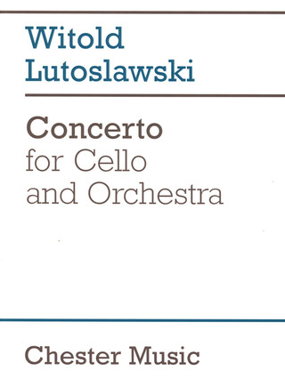 Witold Lutosławski: Lutoslawski, W Concerto For Cello And Orchestra F/S