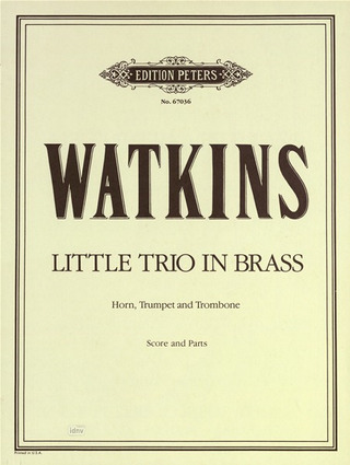 Watkins William: Little Trio in Brass