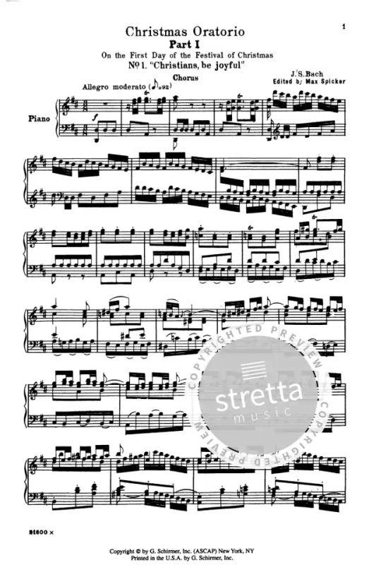 Weihnachtsoratorium Bach Noten Kostenlos