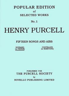 Henry Purcell: Fifteen Songs and Airs 1