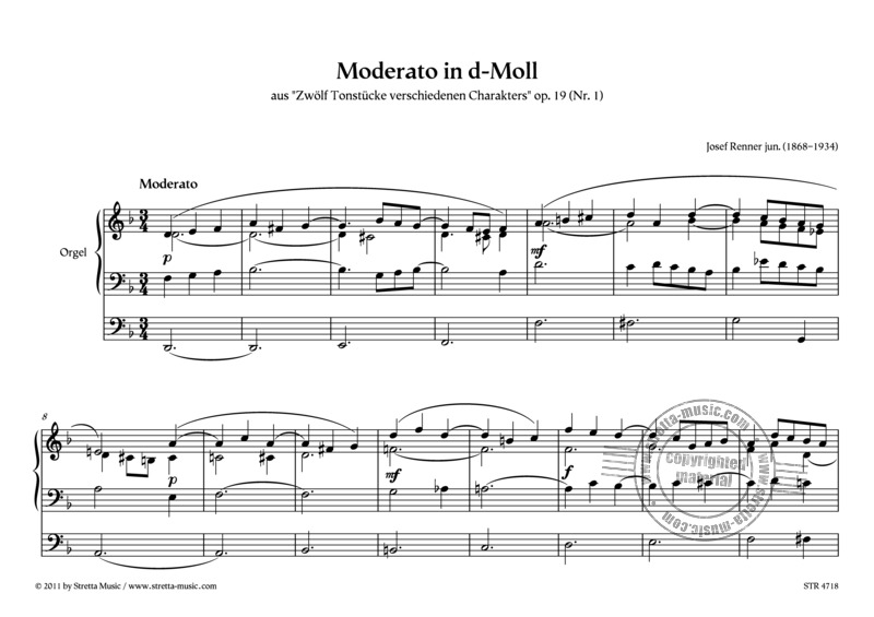 Josef Renner (jun.): Moderato in d-Moll