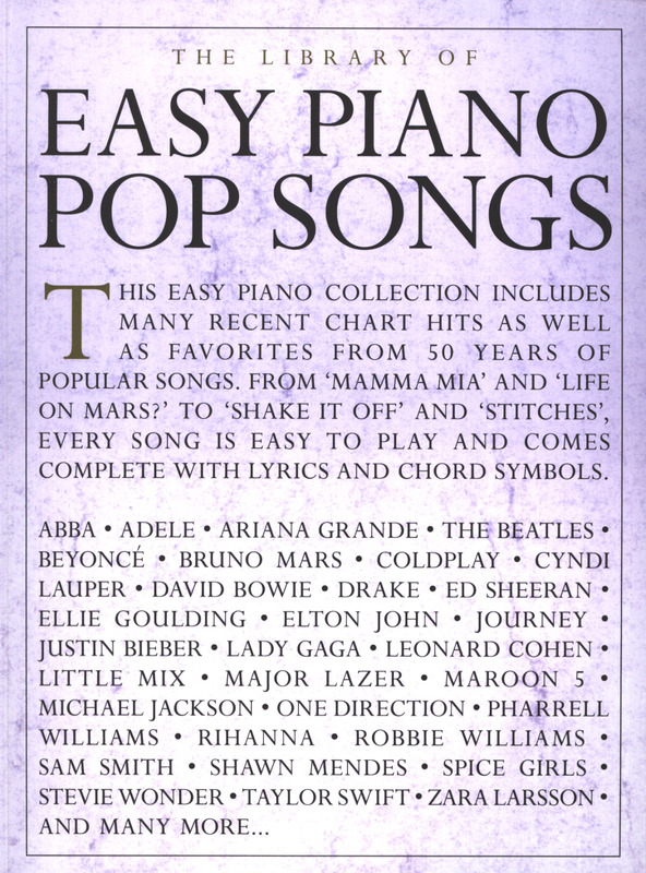 The Library Of Easy Piano Pop Songs Buy Now In Stretta