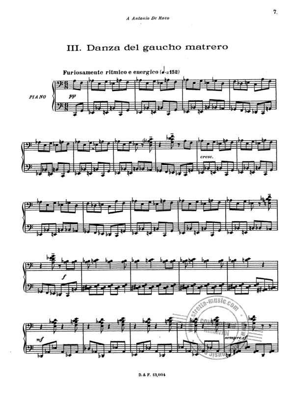 Ginastera Danzas Argentinas pour Piano