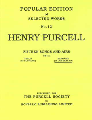 Henry Purcell: Purcell, H 15 Songs & Airs Set 2 Low Voice/Piano