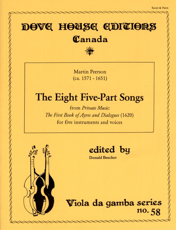 Martin Peerson: 8 Five Part Songs (Private Music - First Book