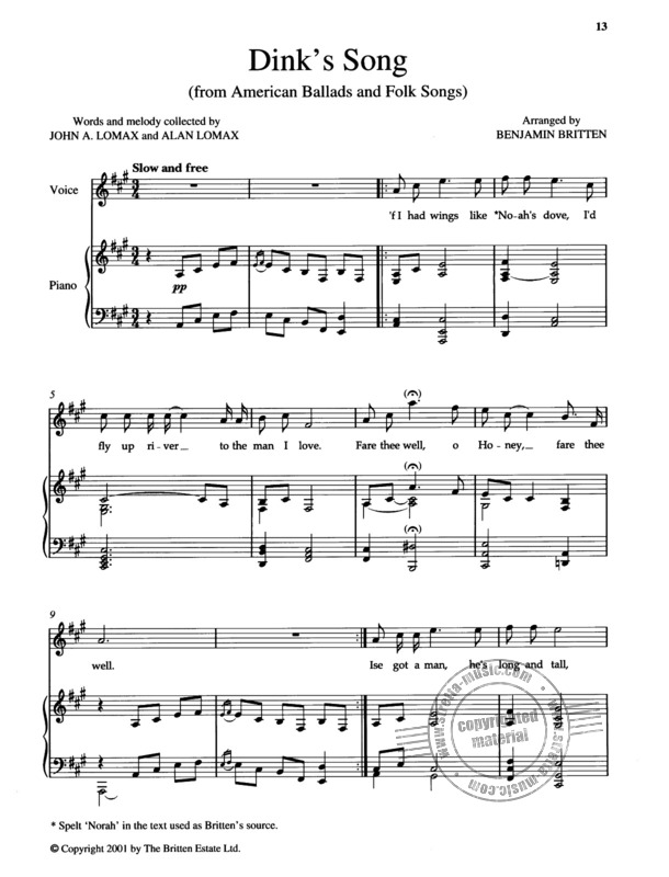Benjamin Britten: Tom Bowling and Other Song Arrangements (2)