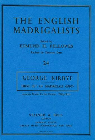George Kirbye: First Set of English Madrigals