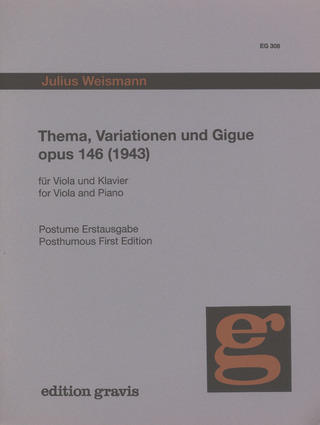 Weismann Julius: Thema Variationen + Gigue Op 146