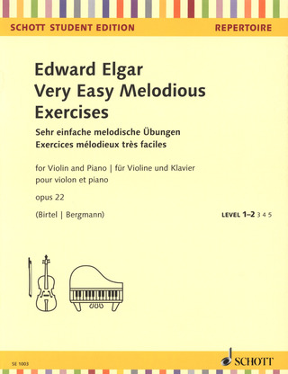 Edward Elgar: Very Easy Melodious Exercises op. 22