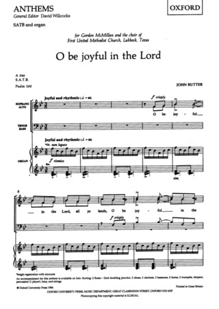John Rutter: O Be Joyful in the Lord