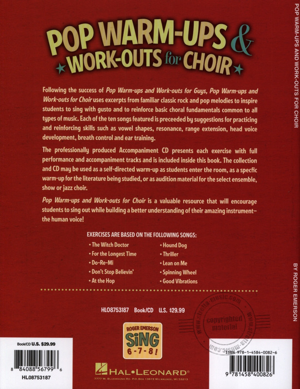 Roger Emerson: Pop Warm-ups & Work-outs For Choir from Roger