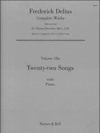 Frederick Delius: Twenty-Two Songs